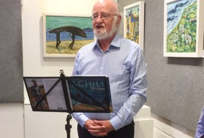 Achill: The Island author John F. Deane giving a reading from the book