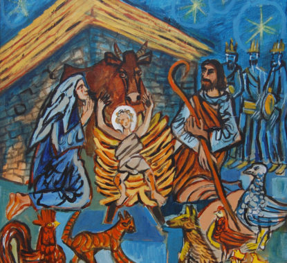 Painting of Nativity Scene