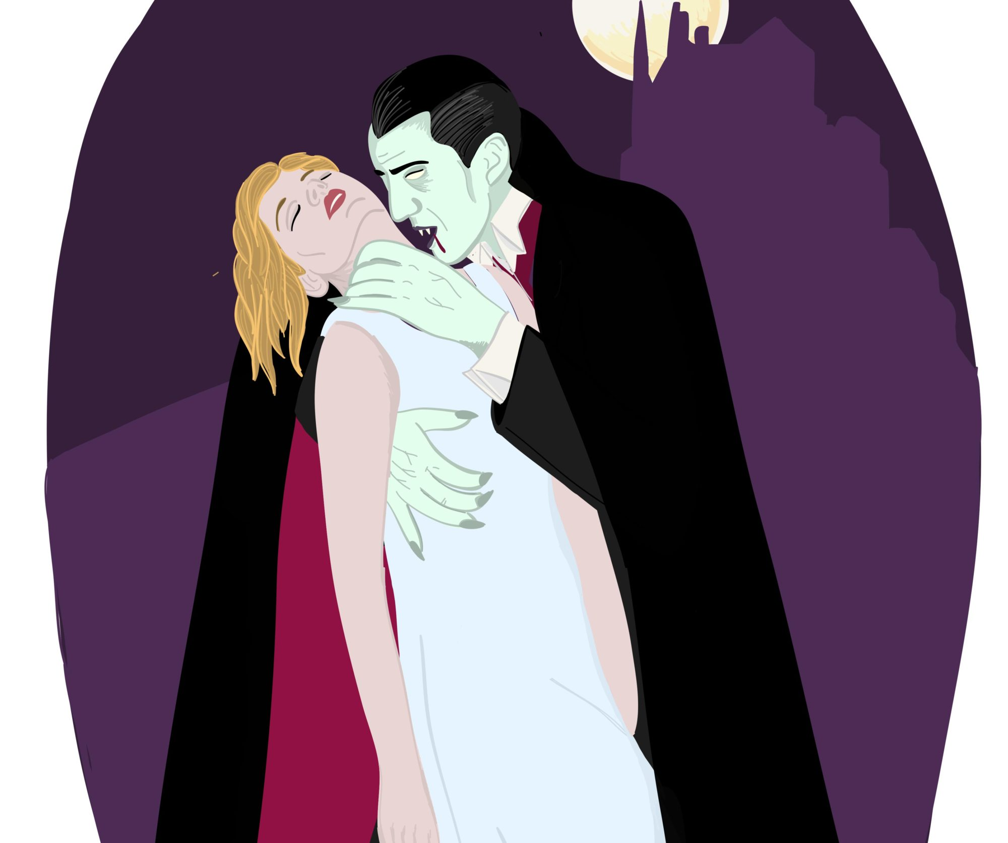 Illustration of Dracula